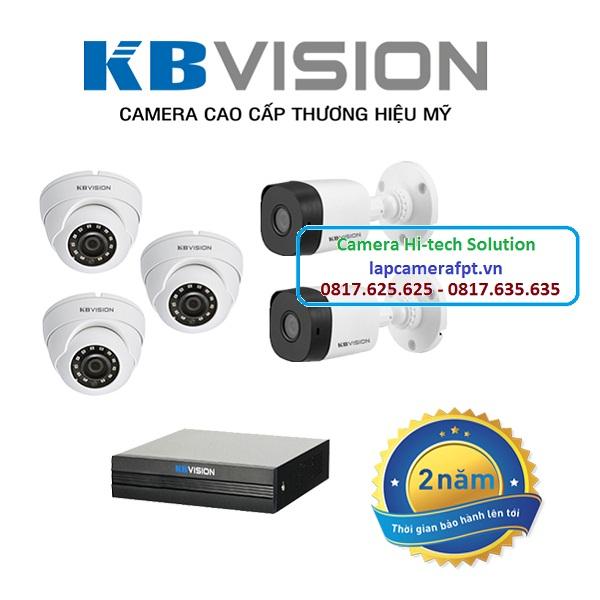Bộ 5 camera Kbvision