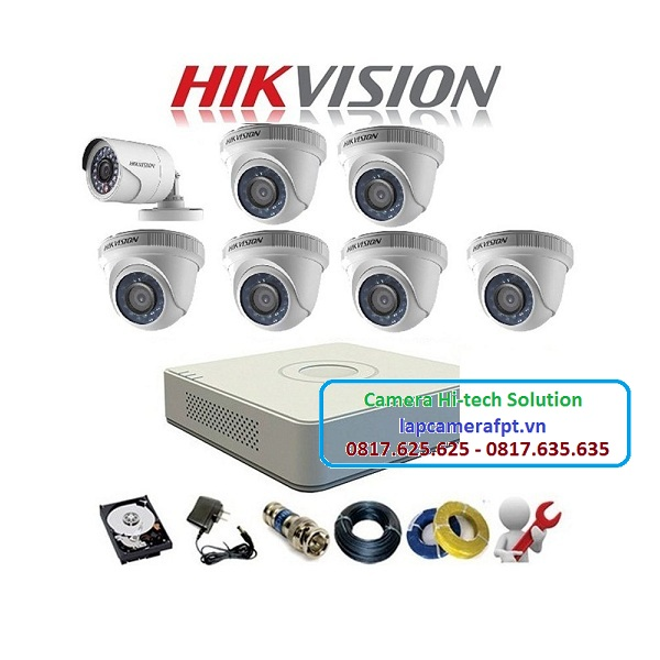 Bộ 7 camera Hikvision