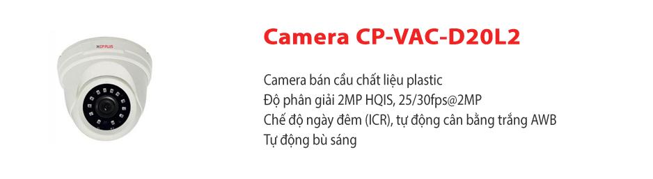 Camera CP-VAC-D20L2
