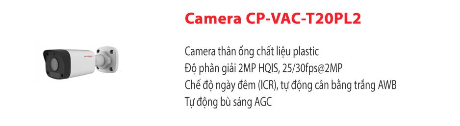Camera CP-VAC-T20PL2
