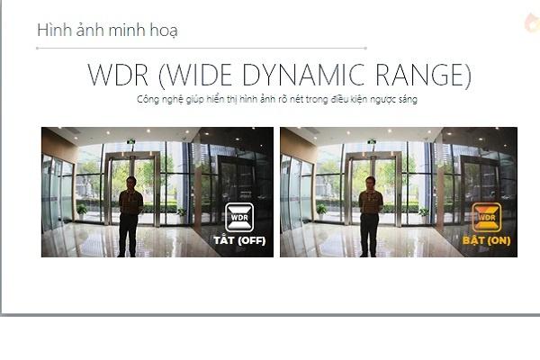 Tích hợp chế độ WDR