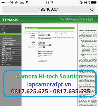 Cài Đặt Bộ Phát sóng Wifi Tplink WR940N