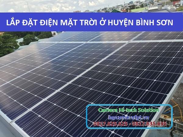 Lắp đặt điện năng lượng mặt trời huyện Bình Sơn
