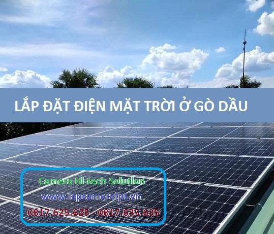 Lắp Đặt Điện Năng Lượng Mặt Trời ở huyện Gò Dầu