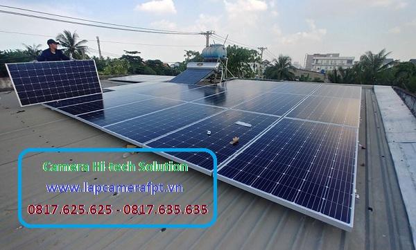 Hệ thống điện mặt trời tại khu vực Châu Đốc