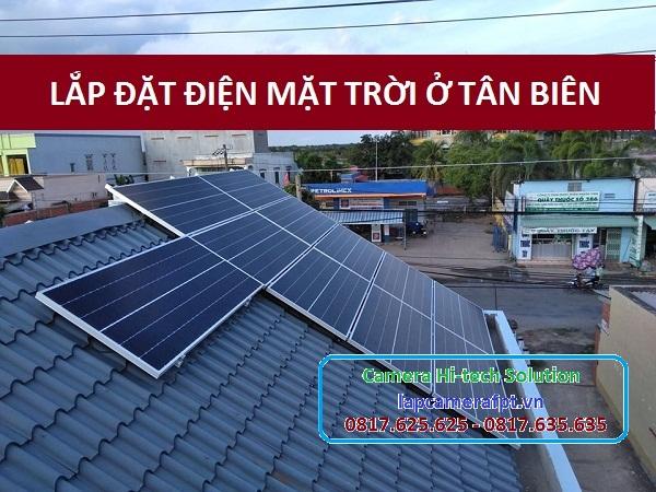 Lắp đặt điện mặt trời ở huyện Tân Biên
