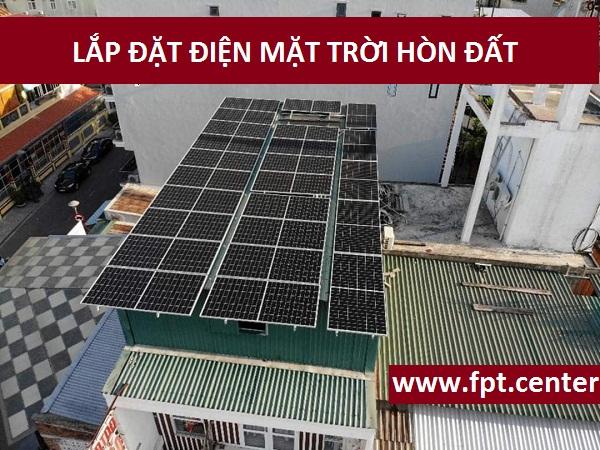 lắp đặt điện mặt trời ở huyện Hòn Đất