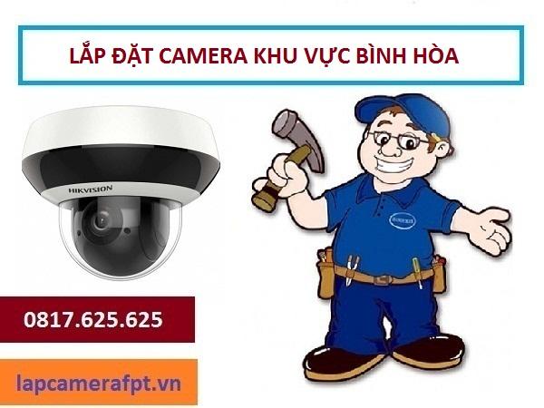 Lắp đặt camera quan sát ở phường Bình Hòa